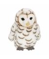 Knuffeldier sneeuwuil wit 15 cm