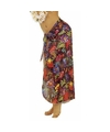 Zwarte Hawaii verkleed sarong rok voor dames